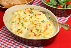 Cauliflower Cheese Royalty Free Stock Images