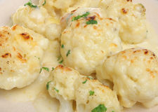 Cauliflower Cheese Stock Photo