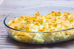 Cauliflower with cheese Stock Photography