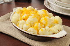 Cauliflower and cheese Stock Photo
