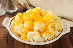 Cauliflower and cheese Stock Photos