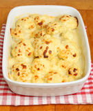 Cauliflower Cheese in Casserole Dish Royalty Free Stock Photos