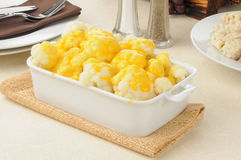 Cauliflower and cheese Stock Photography