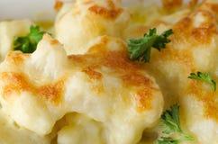 Cauliflower Cheese Close Up Stock Image