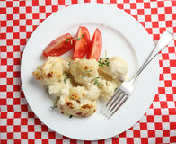 Cauliflower cheese high angle Royalty Free Stock Photo