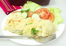 Cauliflower cheese meal horizontal Royalty Free Stock Photo