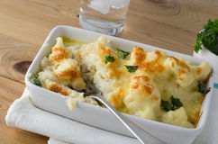 Cauliflower Cheese - Meal in Progress Royalty Free Stock Images