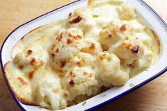 Cauliflower cheese from oven Royalty Free Stock Photography