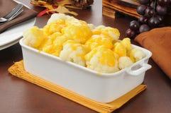 Cauliflower and cheese sauce Stock Photography