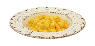 Cauliflower with cheese sauce in bowl Royalty Free Stock Photos