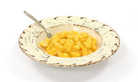 Cauliflower with cheese sauce in bowl with spoon Royalty Free Stock Images