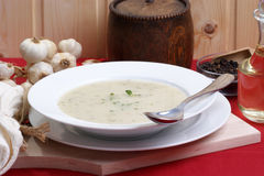 Cauliflower cream soup Royalty Free Stock Image