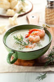 Cauliflower cream soup Stock Photo