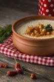 Cauliflower cream soup Royalty Free Stock Photo
