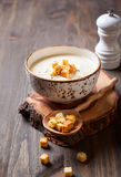 Cauliflower cream soup Royalty Free Stock Images
