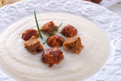 Cauliflower cream soup Stock Images