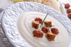 Cauliflower cream soup Stock Image
