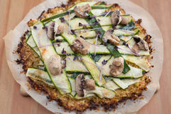 Cauliflower Crust Pizza Stock Photos