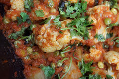 Cauliflower Curry - Indian Food Stock Photography