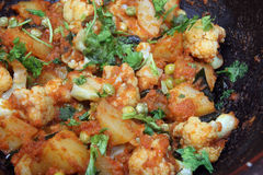 Cauliflower Curry - Indian Food Royalty Free Stock Image