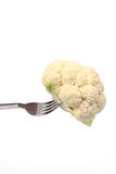 Cauliflower on a fork Royalty Free Stock Images