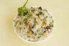 Cauliflower fried rice. Oriental dish, Asia Stock Image