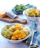 Cauliflower gratin with cheese Stock Photography