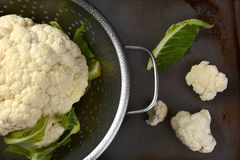 Cauliflower Head and Florets Stock Photography