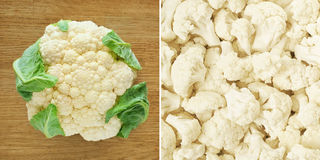 Cauliflower. Healthy food background. Royalty Free Stock Photo
