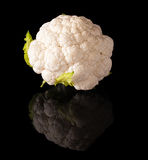 Cauliflower isolated on a black background Stock Photography