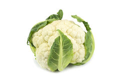 Cauliflower isolated over white. Close-up of fresh cauliflower isolated over white Stock Image