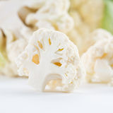 Cauliflower with leaves Stock Photos