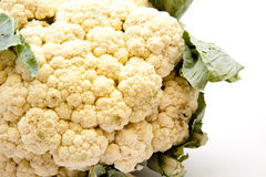 Cauliflower with leaves. On white background Stock Photography