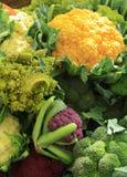Cauliflower at the market Stock Image