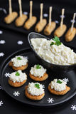 Cauliflower and mayonnaise appetizer salad Royalty Free Stock Photos
