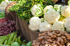 Cauliflower and other vegetables Stock Photography