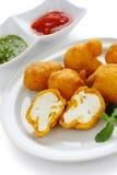 Cauliflower pakora , indian cuisine Royalty Free Stock Photos