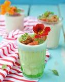 Cauliflower panna cotta Stock Photography