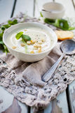 Cauliflower and pea soup Royalty Free Stock Photo