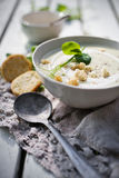 Cauliflower and pea soup Stock Image