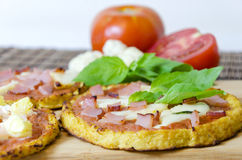 Cauliflower pizza Stock Image