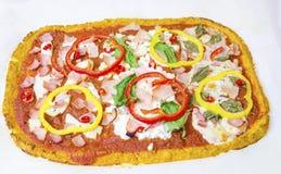 Cauliflower pizza Stock Photos