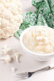 Cauliflower puree cooking Royalty Free Stock Photo