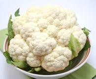 Cauliflower. A raw cauliflower in a bowl Royalty Free Stock Images