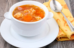Cauliflower and red lentil soup Royalty Free Stock Photos