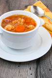 Cauliflower and red lentil soup Royalty Free Stock Image