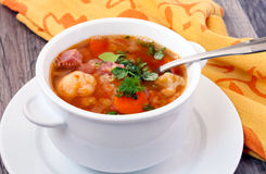 Cauliflower and red lentil soup Stock Image