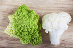 Cauliflower and romanesco broccoli Royalty Free Stock Photo