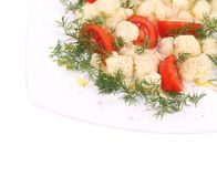 Cauliflower salad close up. Royalty Free Stock Photography