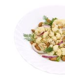 Cauliflower salad close up. Stock Images